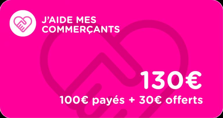 j'aide mes commerçants vosges cartes cadeaux bon d'achat de 100 euros