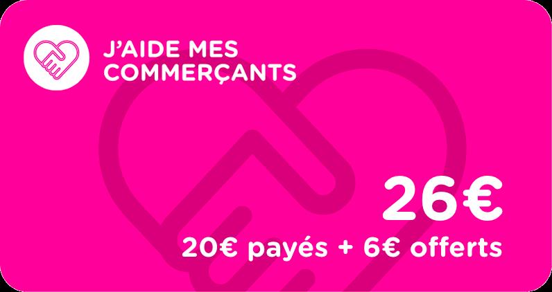 j'aide mes commerçants vosges cartes cadeaux bon d'achat de 20 euros